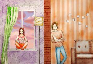 Муж  с другом хотел начать бизнес, заложив квартиру ,но жена была против. Теперь друг купается в деньгах, а муж затаил обиду на жену
